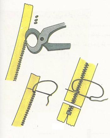 کوتاه کردن زیپ