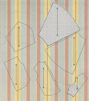 پارچههای راه راه با خطوط ترسیمی در یک جهت2