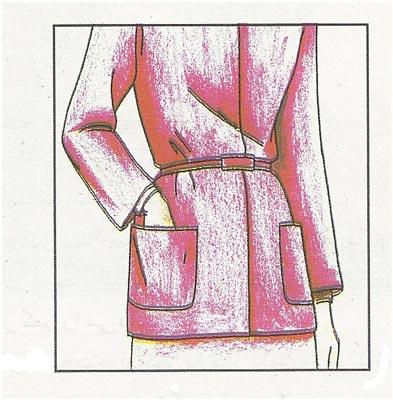 جیب روی لباس