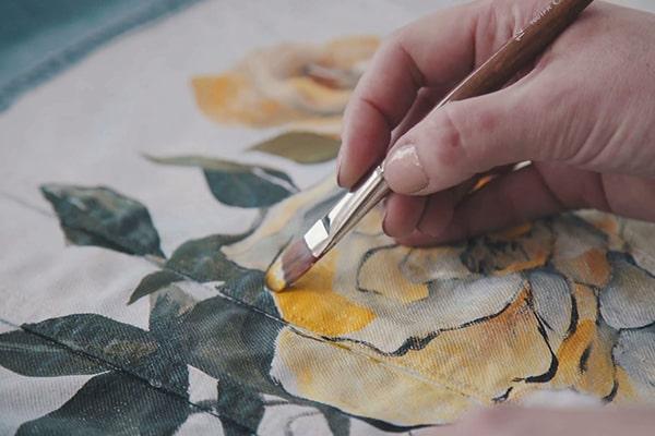 دوره های آموزش نقاشی روی پارچه