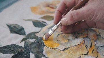کارگاه آموزش نقاشی روی پارچه
