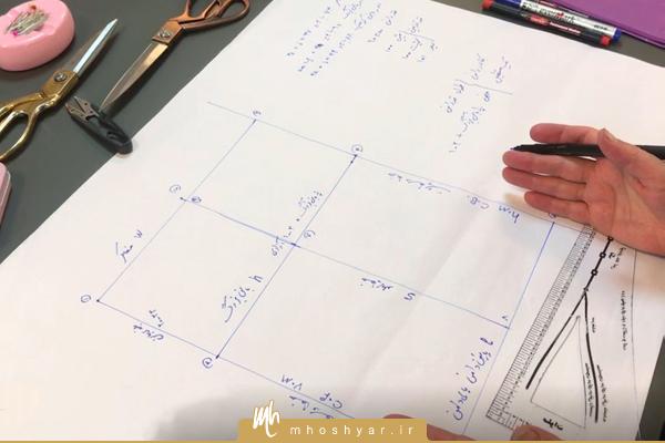 الگوی دامن پایه با رسم ساده