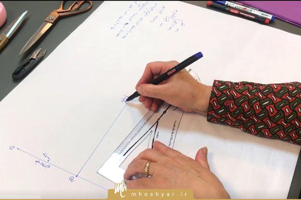 اندازه گیری و رسم الگوی دامن پایه