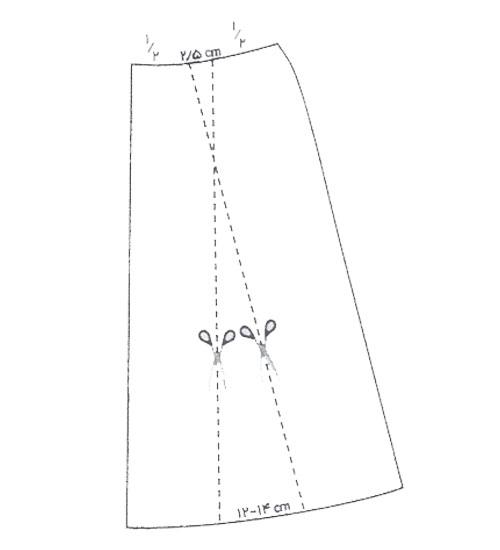 رسم الگوی دامن فون پیلی