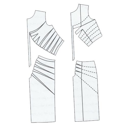 الگوی خیاطی پیراهن ساده زنانه