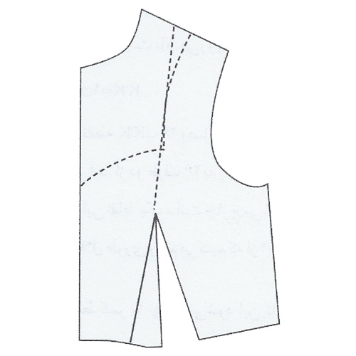 رسم الگوی پیراهن با برش زیر سینه
