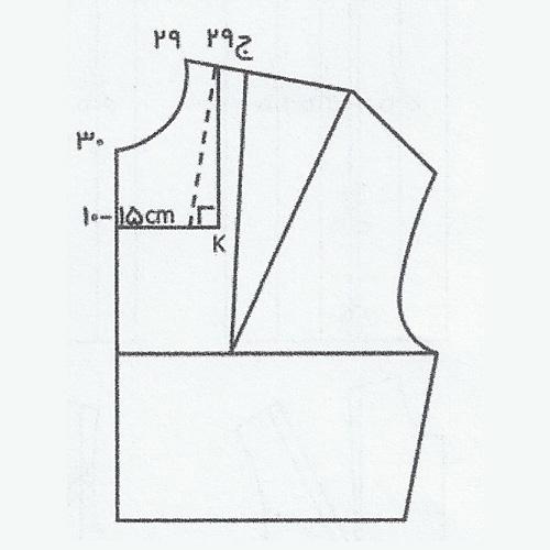 آموزش دوخت یقه چهارگوش