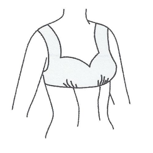 رسم الگوی پیراهن با برش زیر سینه و یقه دلبری