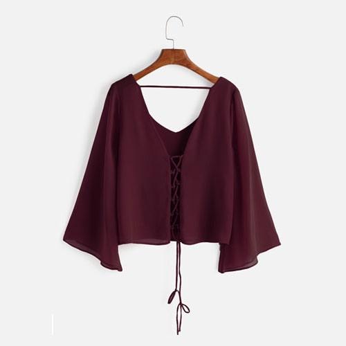 الگوی آستین رگلان برای پیراهن زنانه