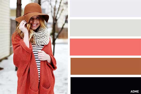 رنگ شناسی در لباس زنانه